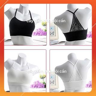 Áo bra dây đan cách điệu phối ren sau lưng [CỰC ĐẸP]