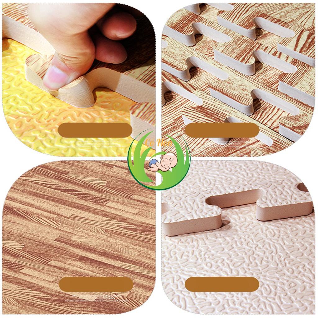 Thảm xốp lót sàn vân gỗ bộ 6 miếng 60x60cm