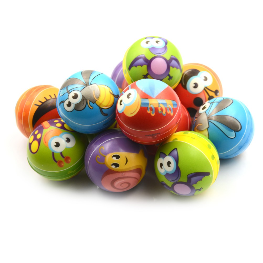 NEW❤❤1PCS 6.3cm Hand Wrist Exercise PU Rubber Toy Balls Snails Print Spo