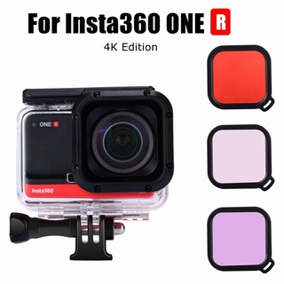 New Insta 360 ONE R 60M Waterproof Housings Protective Shell Dive Case+Lens Filters For Insta360 One R 4K Edition Accessories【oy】