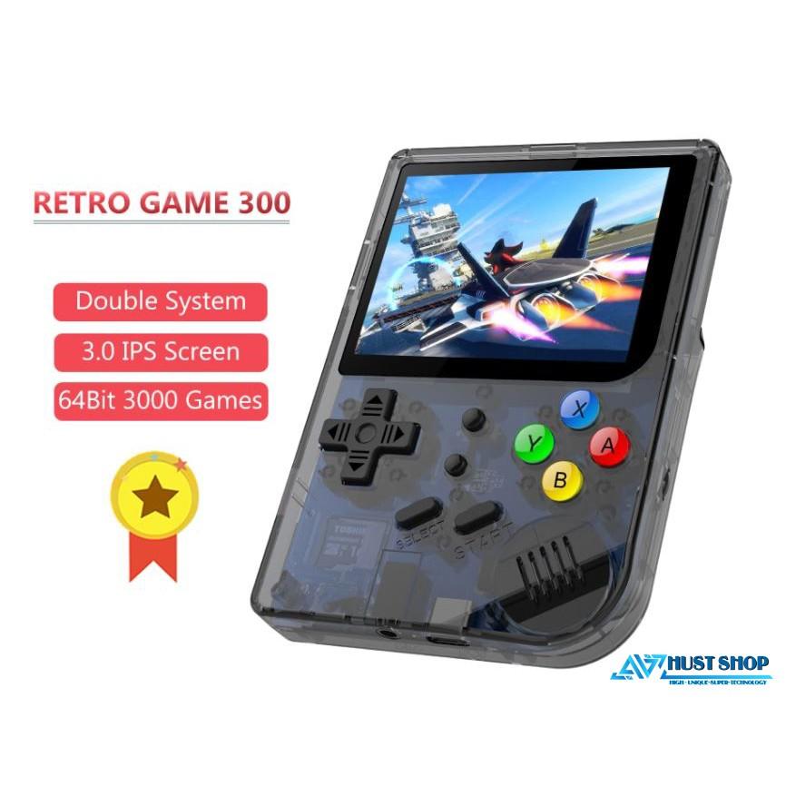 Máy Chơi Game RG300 Màn Hình 3 inch IPS Hỗ Trợ Game PS1//CPS/Arcade/GBA/GBC... Tích Hợp Sẵn Hơn 3000 Games