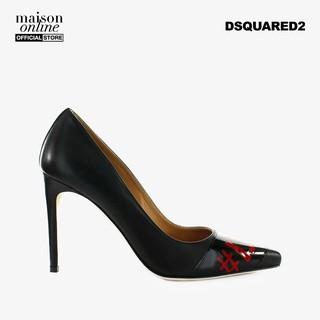 [Mã FASHIONMAL3 hoàn 10% tối đa 100k xu đơn từ 250k] DSQUARED2 - Giày cao gót mũi nhọn Black Red Logo Pump PPW0029-M002 thumbnail