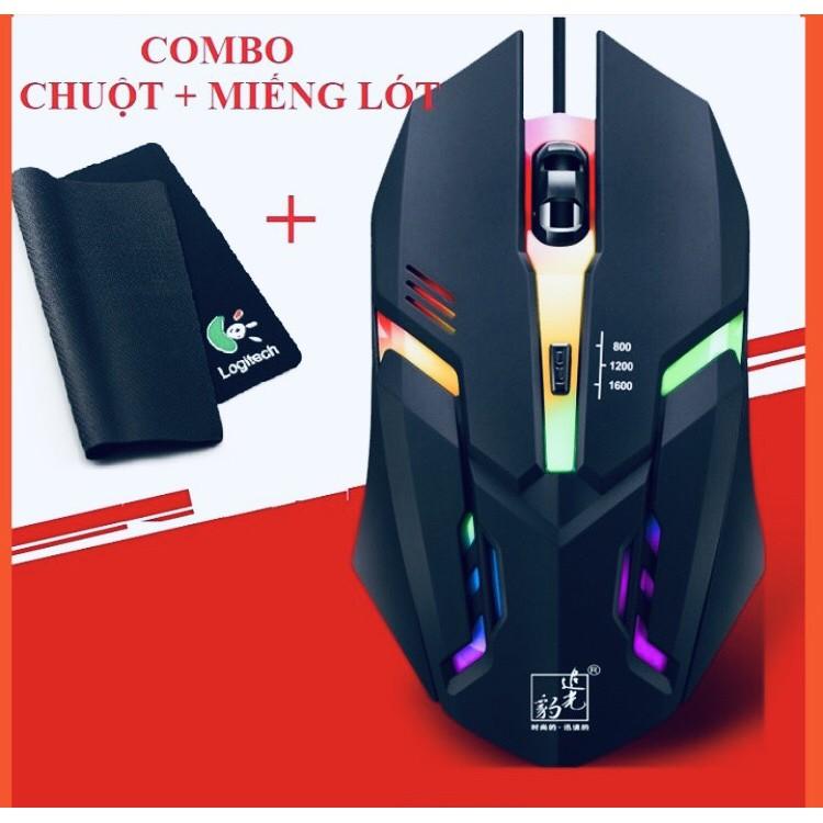 [Combo] Chuột Gaming Sky9 LED + Lót Chuột (Tùy Chọn) - Combo Chơi Game Giá Rẻ