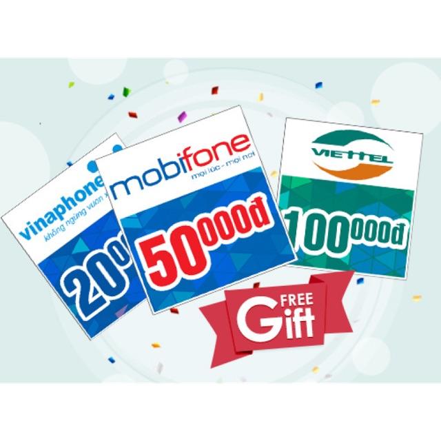 Thẻ điện thoại vinaphone 100k nạp trực tiếp