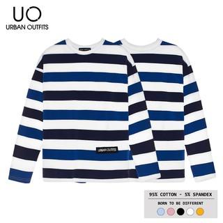 Áo Thun Tay Dài Nam Nữ Form Rộng URBAN OUTFITS Kẻ Sọc Ngang TDO05 Unisex Cặp Đôi Hàn Quốc Outfit Big Size 100% Cotton