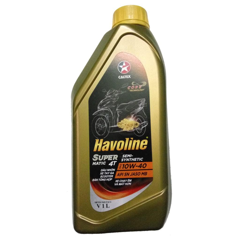 Dầu nhớt xe tay ga Caltex Havoline 10W40 SEMI (bán tổng hợp) - 10023745 , 694396793 , 322_694396793 , 87000 , Dau-nhot-xe-tay-ga-Caltex-Havoline-10W40-SEMI-ban-tong-hop-322_694396793 , shopee.vn , Dầu nhớt xe tay ga Caltex Havoline 10W40 SEMI (bán tổng hợp)