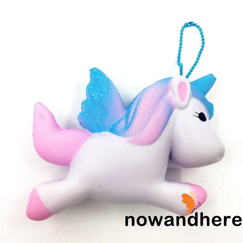 .N.-Unicorn Squishy Charms Soft Toy Slow Rising Cell Phone Key Chain Straps NEW