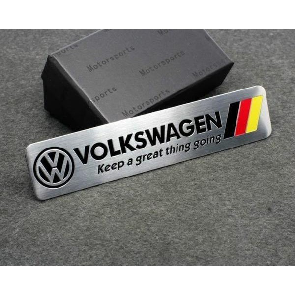 Volkswagen logo metal car trunk stickers Volkswagen V/W POLO Tiguan Passat B5 B6 B7 Golf MK6