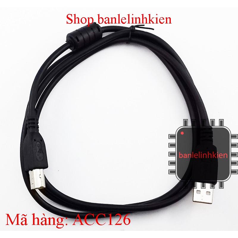 Dây cáp USB A B 1.5m có cục chống nhiễu - 3377747 , 590310020 , 322_590310020 , 20000 , Day-cap-USB-A-B-1.5m-co-cuc-chong-nhieu-322_590310020 , shopee.vn , Dây cáp USB A B 1.5m có cục chống nhiễu