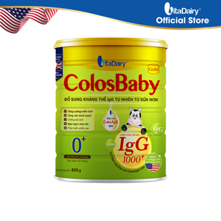 Sữa bột COLOSBABY GOLD 0+ 800G - S thumbnail