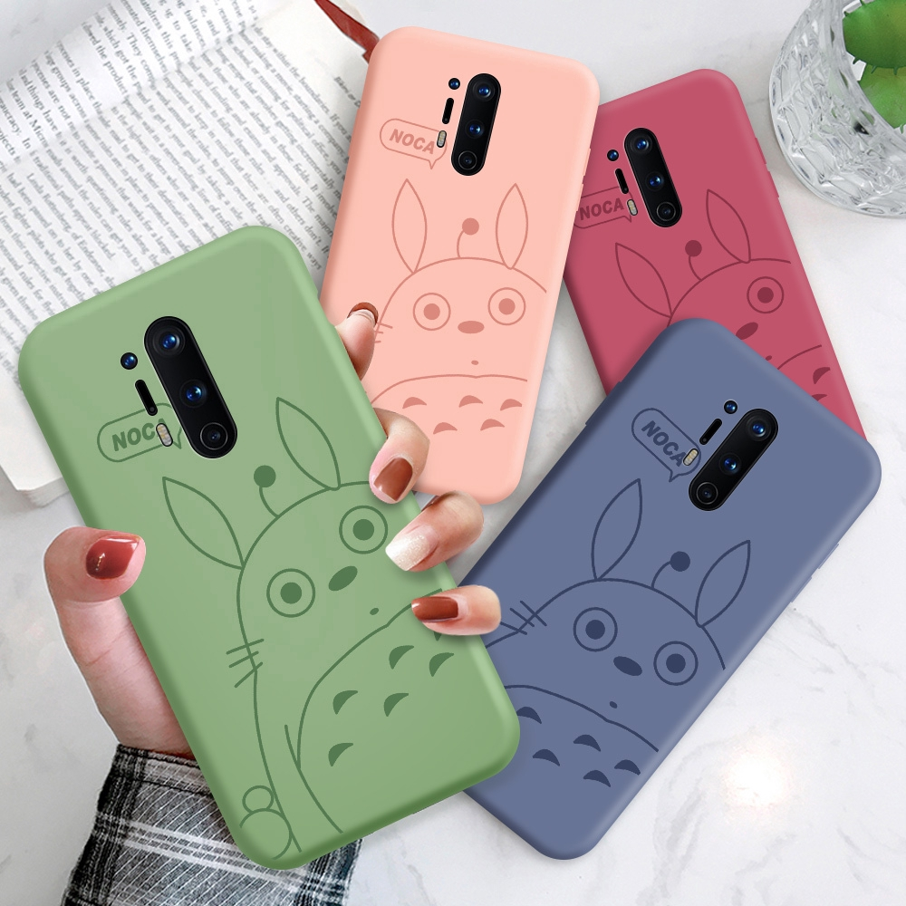 OnePlus 8 Pro 7 7T Pro One Plus For Liquid Silicone Phone Case Tonari no Totoro Soft Casing Ghibli Miyazaki Hayao Cartoon Ốp lưng điện thoại Bao mềm In Hình cho