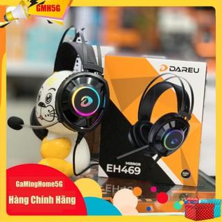Tai nghe Gaming Dareu EH469 Queen 7.1 RGB Led – Hồng Pink Có Tai Mèo – Chính Hãng – Bảo Hành 12 Tháng