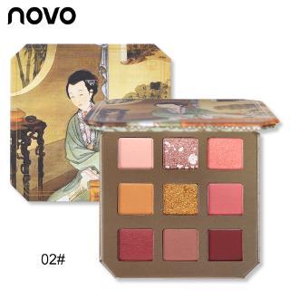 Bảng Phấn Mắt NOVO 9 Màu Lấp Lánh Trang Điểm Chuyên Nghiệp