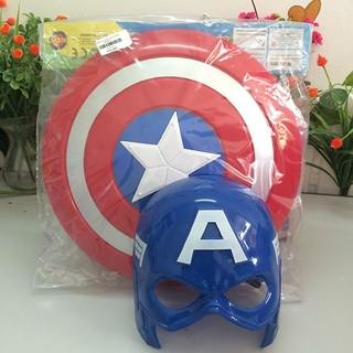 [Nhập mã TOYAUG hoàn 10% tối đa 15K xu cho đơn từ 99K]Bộ khiên + mặt nạ Captain America