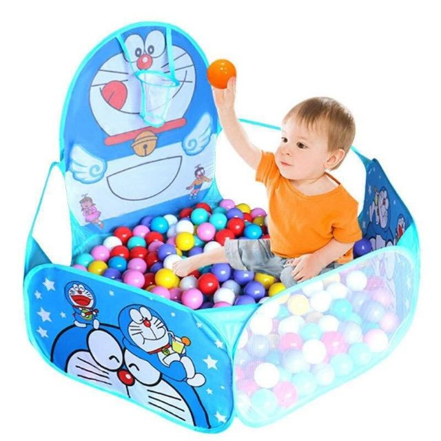 Lều bóng đôrêmon tặng kèm 100 bóng cho bé