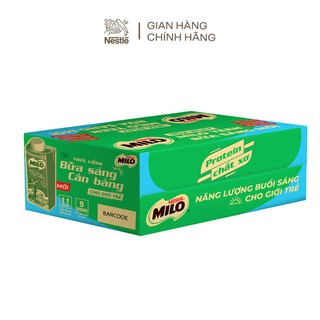 Hình ảnh [Mua 12 tặng 12] Thùng 24 hộp sữa lúa mạch ngũ cốc Nestlé MILO teen bữa sáng ít đường 200 ml/hộp-2