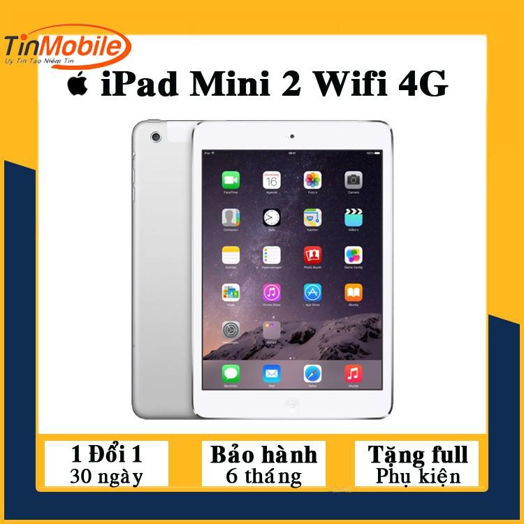Máy Tính Bảng iPad Mini 2 - 16/ 32/ 64/ 128Gb - Zin Đẹp 99% - Full Phụ Kiện