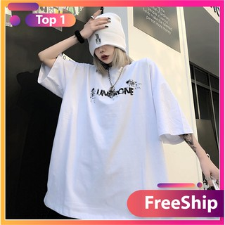 Áo thun nam nữ unisex tay lỡ AD67, áo phông tay lỡ unisex form rộng oversize streetwear PHG