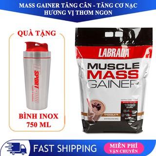 Sữa tăng cân tăng cơ Muscle Mass Gainer hương socola bịch 5.4 kg – hàng BBT