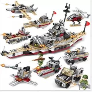 Lego xếp hình Chiến Hạm Biển, Đồ Chơi Xếp Hình, Đồ Chơi Cho Bé, Đồ Chơi Tư Duy