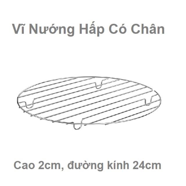 Vĩ nướng hấp có chân cao2cm Φ24cm loại dày