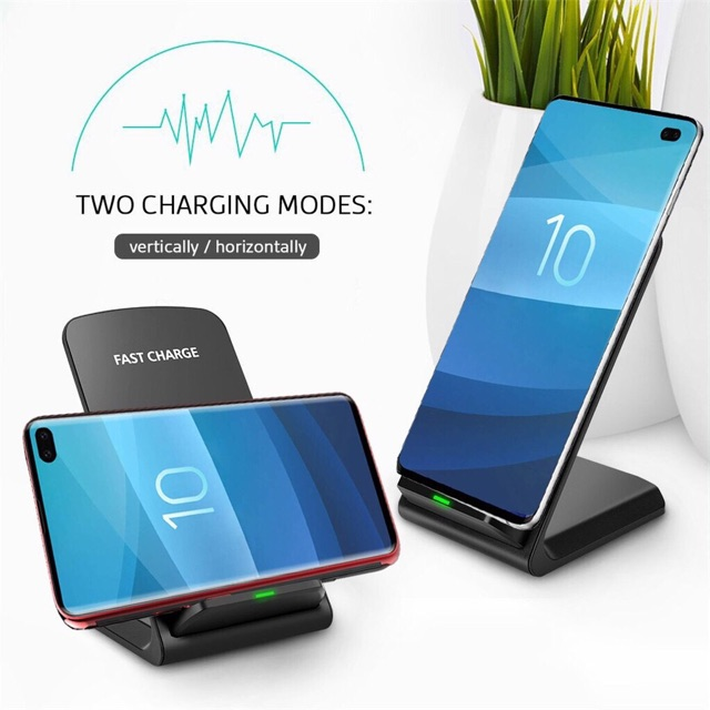 Đế Sạc Không Dây Hỗ Trợ Sạc Nhanh Wireless Charger Fast Charge