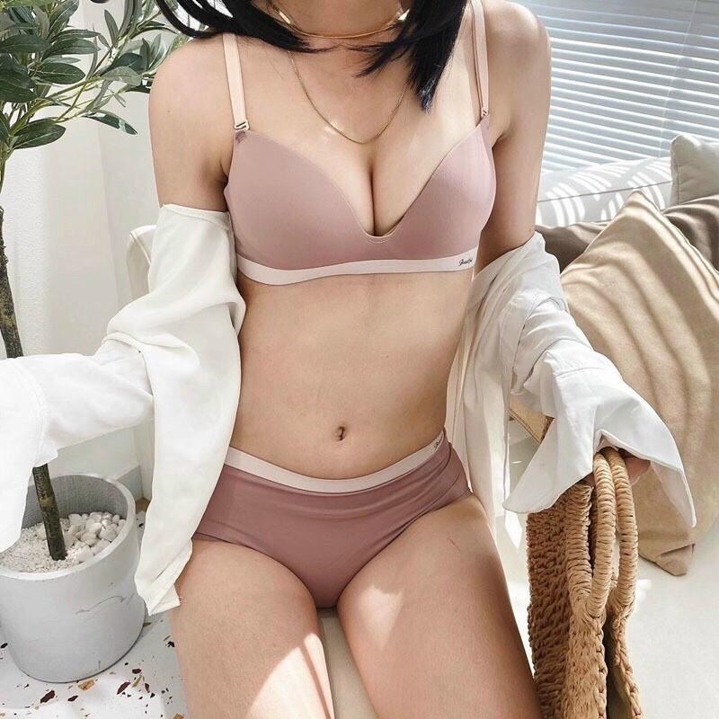Bộ đồ lót nữ su Cao Cấp, Áo lót nâng ngực, không gọng, Quần lót không đường viền Thiết kế CHẤT LIỆU SU NON CXG CHO NỮ   SaleOff247