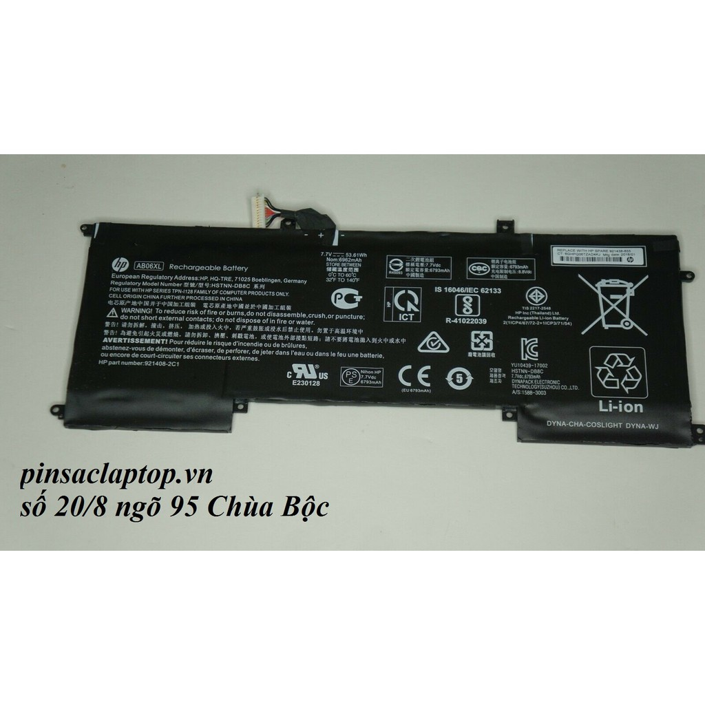 Pin - AB06XL Battery HP Envy 13-AD023TU