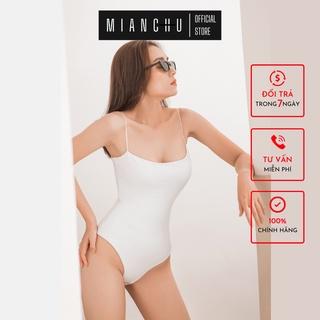 Áo thun hai dây bodysuit 2 lớp MIANCHU chất liệu thun dẻo,mềm,co giãn ôm sát người sexy mã BDS2L2D thumbnail