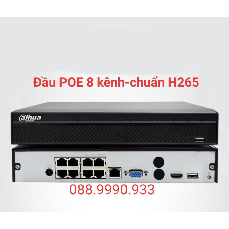 Đầu ghi POE Dahua 8 kênh 2108HC-8P-4KS2 (tiếng việt-cắm là chạy)