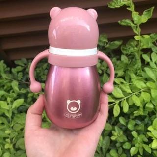 [Có sẵn] Bình sữa bestborn giữ nhiệt bằng inox 180 và 270 ml- Tặng kèm bộ vệ sinh bình
