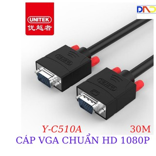 Cáp VGA Unitek Y-C 510A dài 30m-Cáp VGA chuẩn HD cho màn hình LCD, Chính Hãng 100%, Bảo Hành 18 Tháng 1 Đổi 1