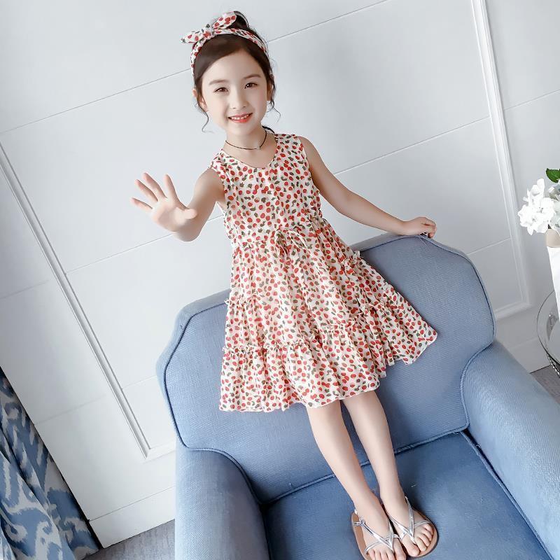 Mặc gì đẹp: Tung bay với Váy đầm voan xòe chấm bi cho bé gái (N00488)
