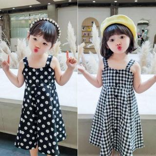 【Superseller】Summer Girl Plaid Dress Skirt Dress Princess Skirt Beauty Pageant Dress 3-8 Years Old