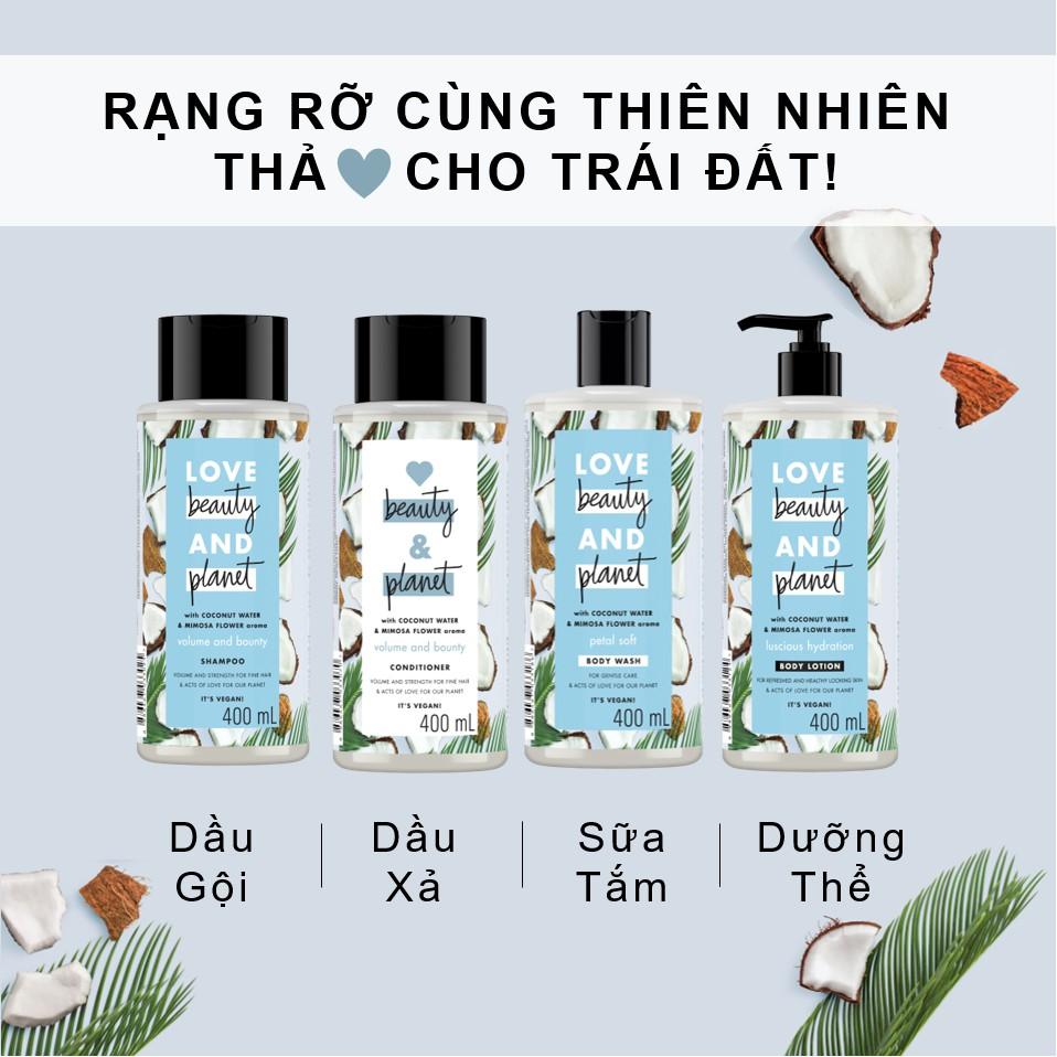 Sữa dưỡng thể giúp phục hồi da thiếu ẩm Love Beauty And Planet Luscious  Hydration 400ml | Shopee Việt Nam