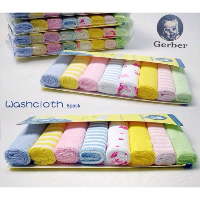 Set 8 khăn mặt gerber cho bé - 2833725 , 84720729 , 322_84720729 , 55000 , Set-8-khan-mat-gerber-cho-be-322_84720729 , shopee.vn , Set 8 khăn mặt gerber cho bé