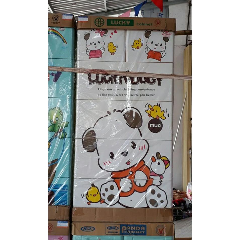 [PHÚ THỌ] Tủ nhựa Việt Nhật 5 tầng 6 ngăn (có khóa)