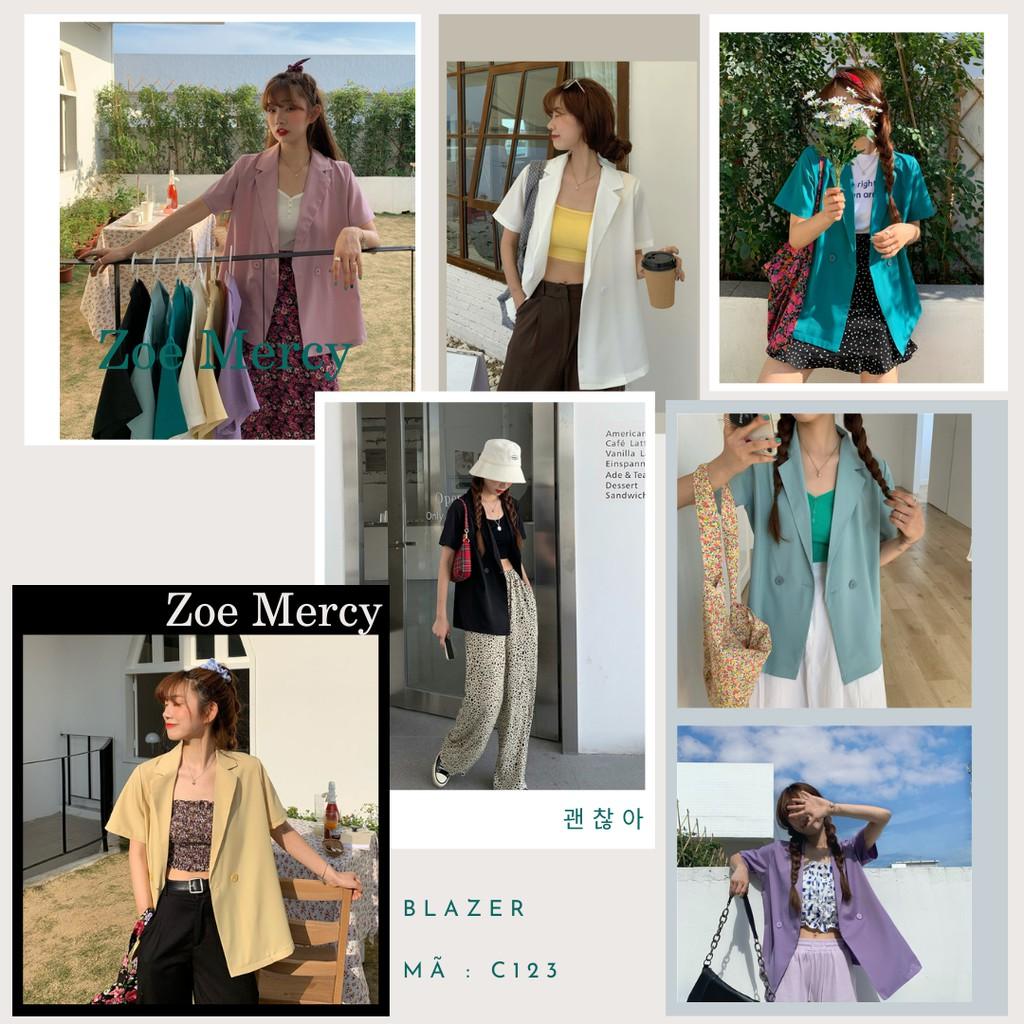 ☘ [SẴN]-Áo Blazer mỏng 1 lớp ngắn tay (C123)