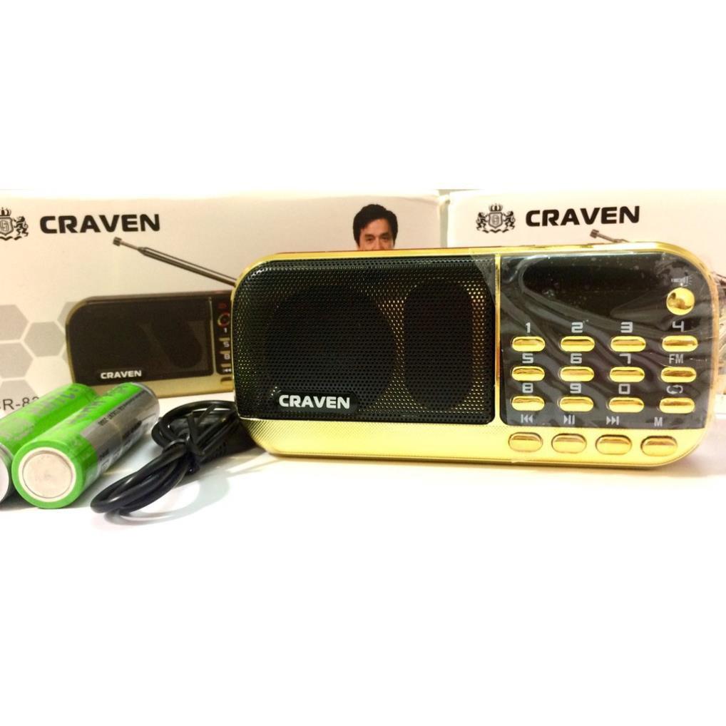 Loa đài Craven 853/836S nghe thẻ nhớ, nghe nhạc tiếng anh cho bé , FM, USB, thẻ nhớ - Bảo hành 6 tháng