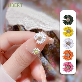 HUBERT Japanese DIY Nail Art Decorations Multicolored 3D Nail Ornaments Daisy Nail|Cute Manicure Accessories Exquisite Flowers Jewelry Zircon Nails Decorative Flowers/Multicolor