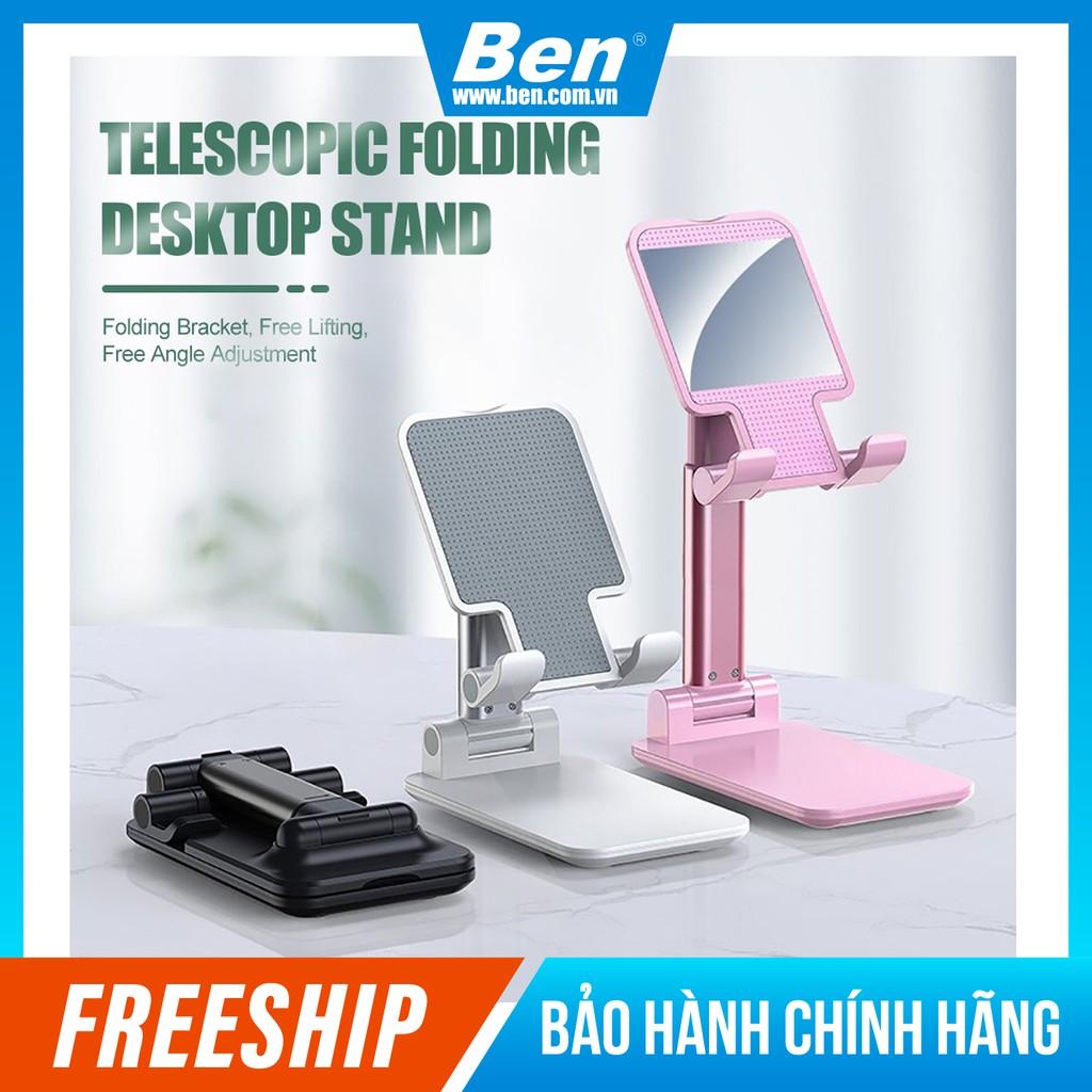 Kệ điện thoại, iPad để bàn có thể gập gọn, chống tê mỏi tay - Ben Computer