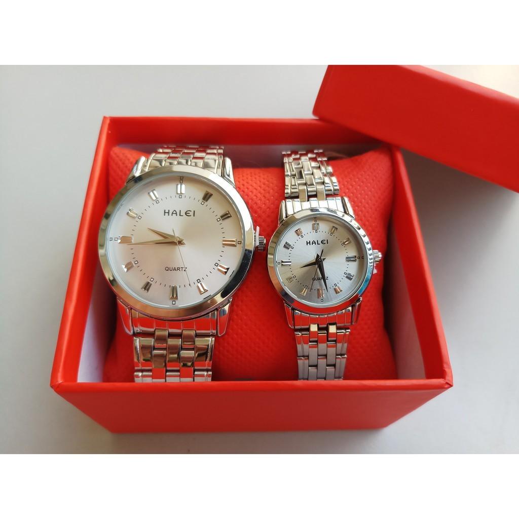 đồng hồ đôi giá rẻ thương hiệu halei cho các cặp đôi yêu nhau
