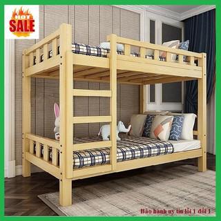 Giường ngủ – giường ngủ tầng gỗ thông mộc, 80x160x190cm – Bảo hành 24 tháng( sẩn phẩm không kèm đệm)