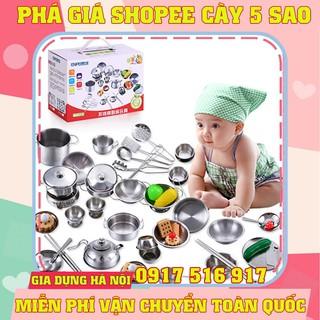 Bộ Đồ Chơi Nấu Ăn 25 – 40 Chi Tiết Bằng Inox Cho Bé