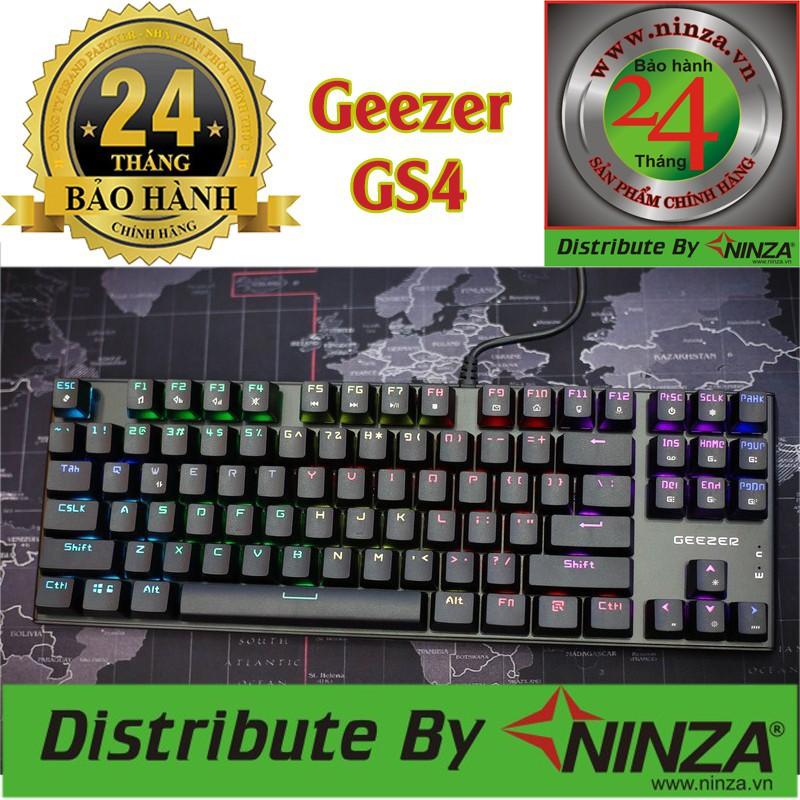 RẺ NHẤT SHOPEE - Bàn Phím Cơ Geezer GS4 (TKL) LED RGB