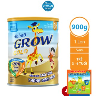 Sữa Bột Abbott Grow Gold 3+ 900g Lon thumbnail