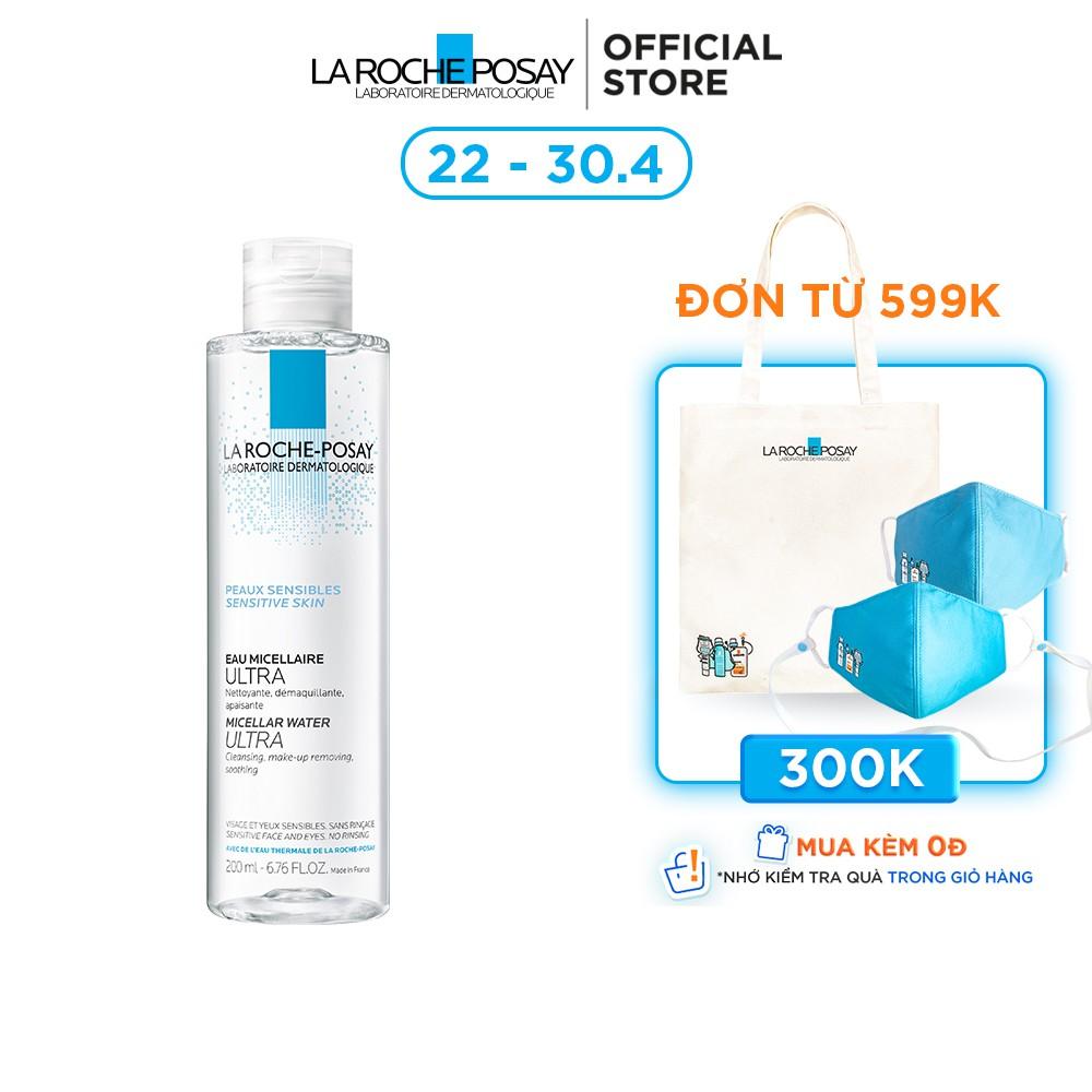 Nước tẩy trang cho da nhạy cảm La Roche-Posay Micellar Water Ultra Sensitive Skin 200ml