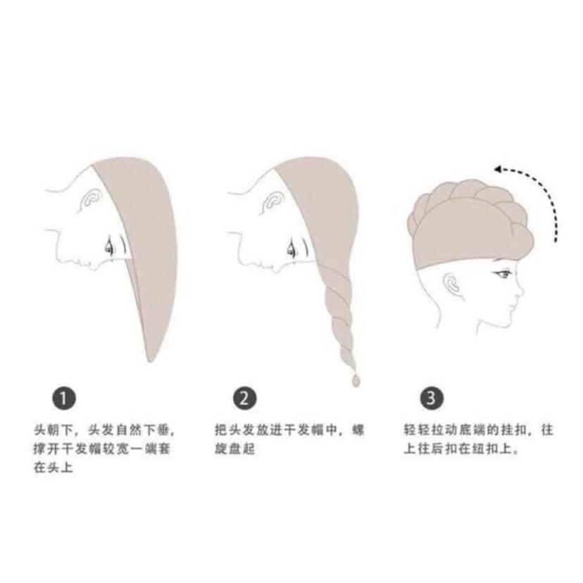Khăn ủ tóc siêu thấm nước - Khăn lau mau khô tóc