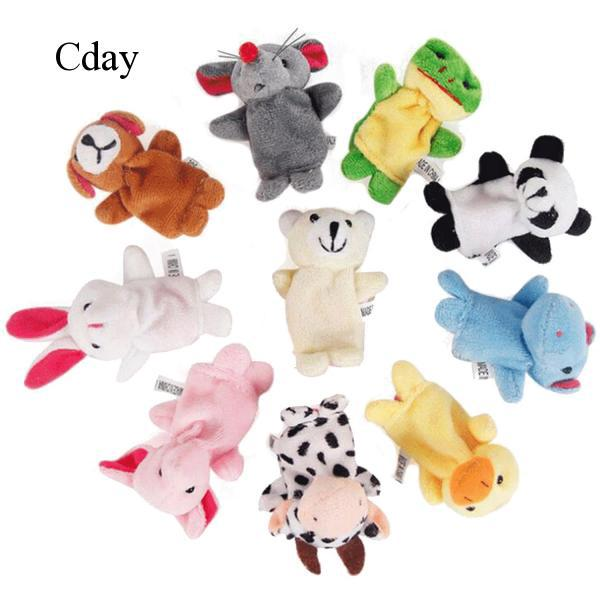 10x Finger Puppets Plush Hand Toys Doll Baby Kids Children Educational Toys C790