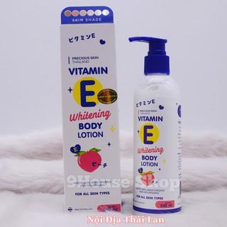 01 Chai Dưỡng thể PRECIOUS SKIN Vitamin E Whitening Body Lotion 230ml